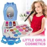 22 pièces Disney glace princesse maquillage boîte jouets ensemble Mini Portable jouer maison cosmétiques outil jouet avec pour enfants enfants filles