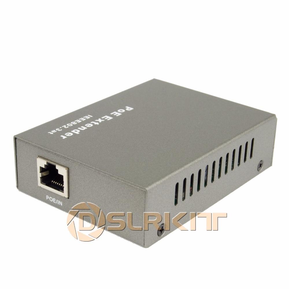 DSLRKIT Gigabit PoE Extender 100-400meter 802.3at Power Over Ethernet Repeater 1000Mbps