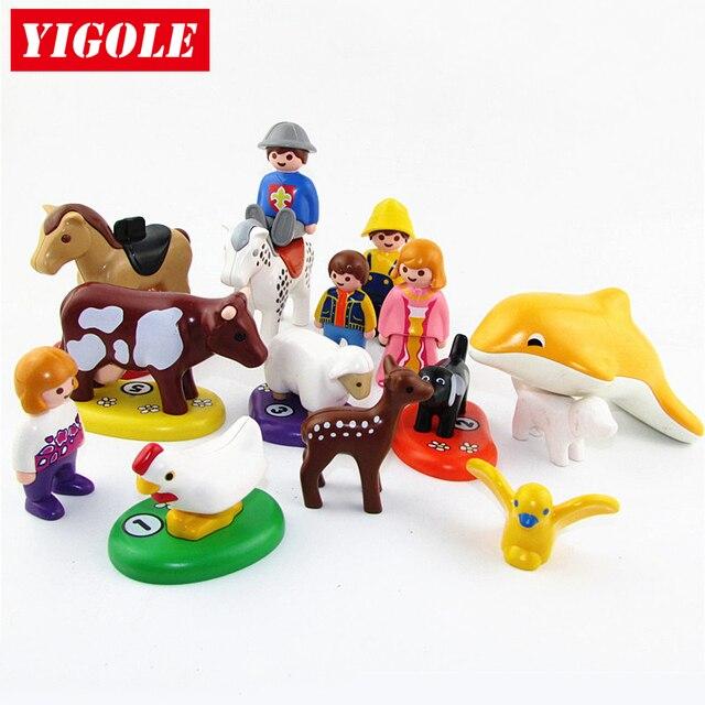 Una sola venta Original Playmobil verano diversión animales granja Set figuras de acción niños mejores juguetes regalo de cumpleaños