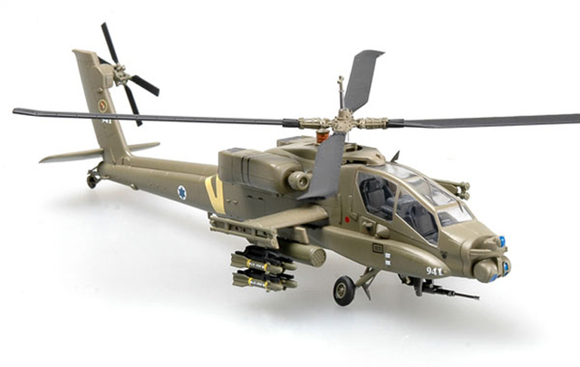 1:72 Scale Airplane Model Israel Apache AH-64A fighter Assembly Airforce Model Building Kits 37027 4