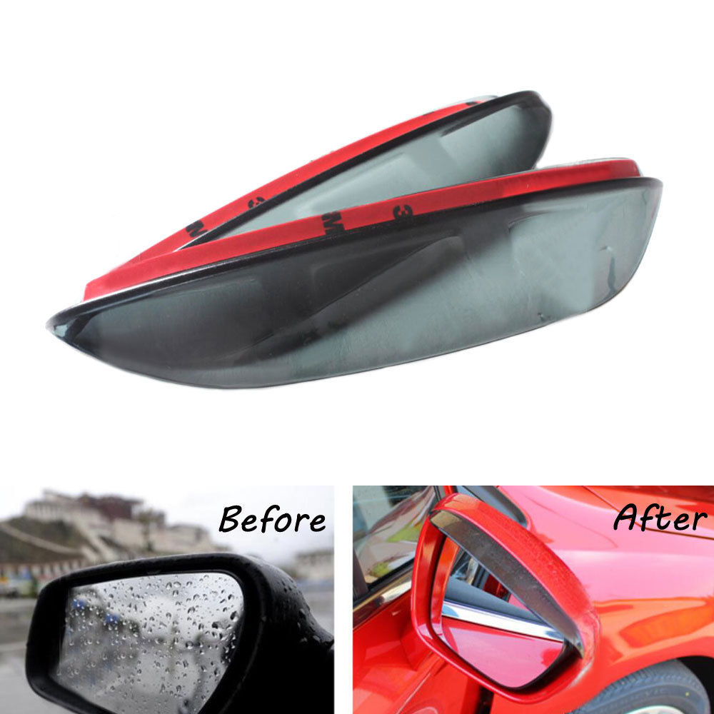 2Pcs Car Rearview <font><b>Mirror</b></font> Rainproof Cover Blade Sun Visor Cover Sticker Fit For <font><b>Peugeot</b></font> <font><b>408</b></font> 508 Car Decal Accessories Car Styling image