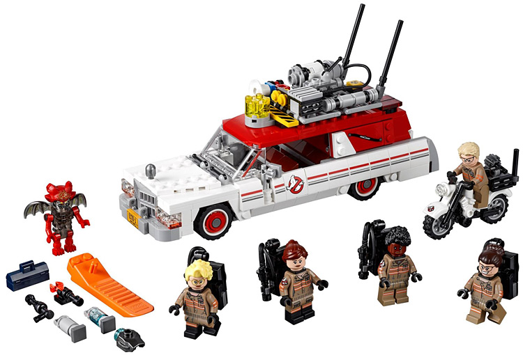 For 75828 The Ghostbusters Ecto 1 2 586Pcs Set Genuine Movie Series Building Blocks Toys Figures