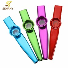 Simple Design Lightweight Kazoo Aluminum Alloy Metal For Guitar Instrument Music Lovers Instrument 4 Colors Optional(China)