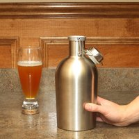 Free Shipping 304 Stainless Steel 64oz Beer Growler Around 2 0L Secure Swing Top Lid Craft