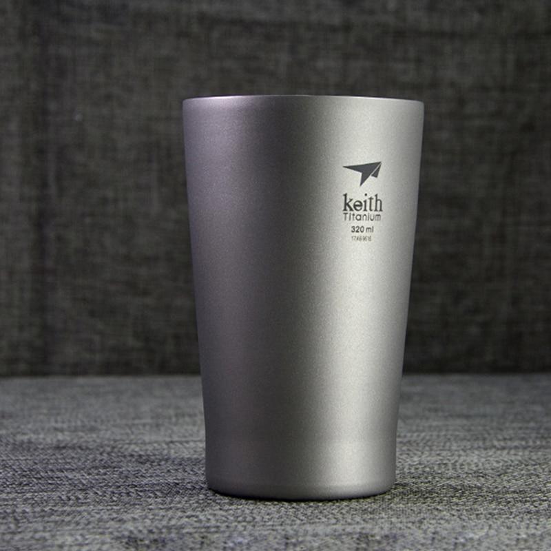 キース 11 オンス/320 ミリリットル純チタンマグコーヒービールカップ二重壁水マグ旅行屋外キャンプスポーツマグ家庭用 Ti9221  グループ上の ホーム&ガーデン からの マグカップ の中 1