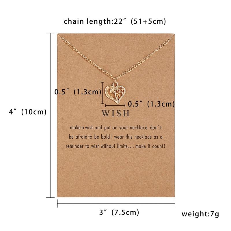 Модный миниатюрный изящный кулон из сердца с цветами, ожерелье, карта желаний, золотой шарм, ожерелье, ювелирные изделия для женщин, аксессуары, подарки для девушки - Окраска металла: 1