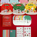 10pcs/lot Korean lovely retro Christmas DIY 3D Wish card set message card with sticker envelope gift card