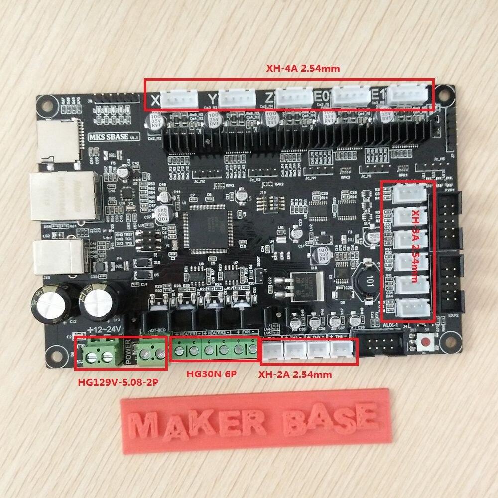 MKS SBASE V1.3 CE et RoHS 32bit Bras plate-forme Lisse contrôle conseil open source MCU-LPC1768 soutien Ethernet préinstallé radiateur - 4