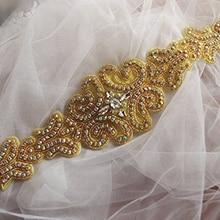 ShiDianYi серебряные стразы аппликация пояс невесты кристалл жемчуг ленты Свадьба для свадебная одежда подружки невесты платья 10PCS-RA039-Y515