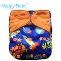 HappyFlute OS cloth diaper cover for baby,with or without bamboo insert,S M and L adjustable,fits 5-15kg baby
