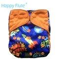 Happyflute os cobertura fralda de pano para o bebê, com ou sem a inserção de bambu, s m e l ajustável, serve para 5-15 kg bebê