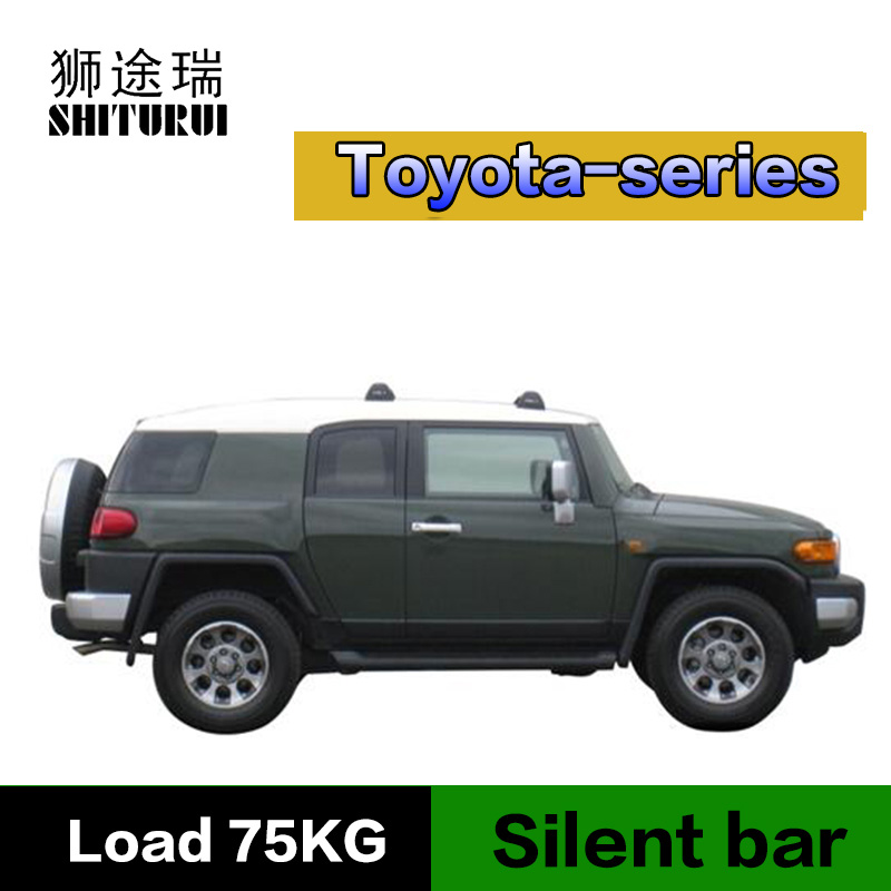 SHITURUI For Toyota Camry Highlander Prius Rav4 Reiz 4 Verso Ultra Quiet Truck Roof Bar Car Special Aluminum Alloy Belt Lock