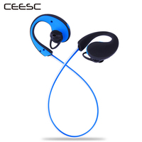 2017 New Flash Glowing Illuminate Headset Sports Ear Hook Wireless Earphone Bluetooth Earbuds With MIC For