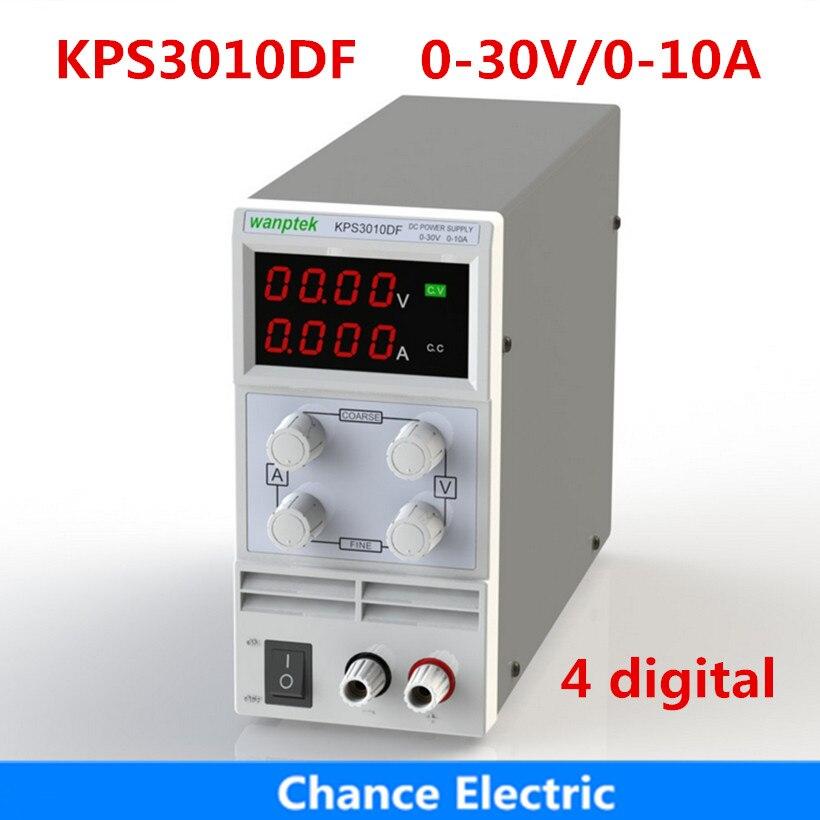 KPS3010DF affichage numérique 30 V 10A AC110V-220V réglable 4 nombre d'affichage Double laboratoire commutation DC alimentation