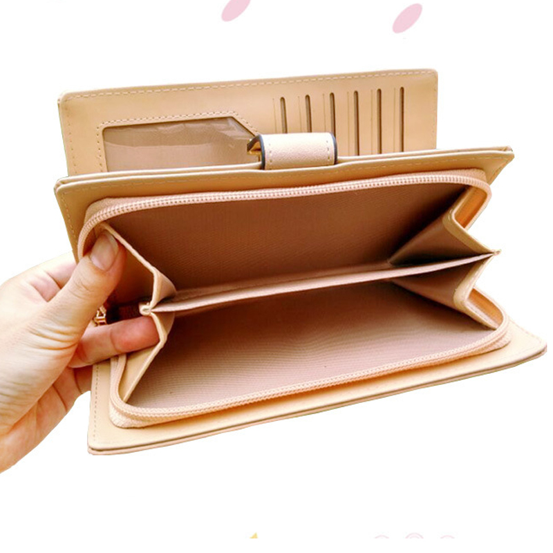 2018Women Wallet Leather Card Mynthållare Pengar Clip Långtelefon - Plånböcker - Foto 4
