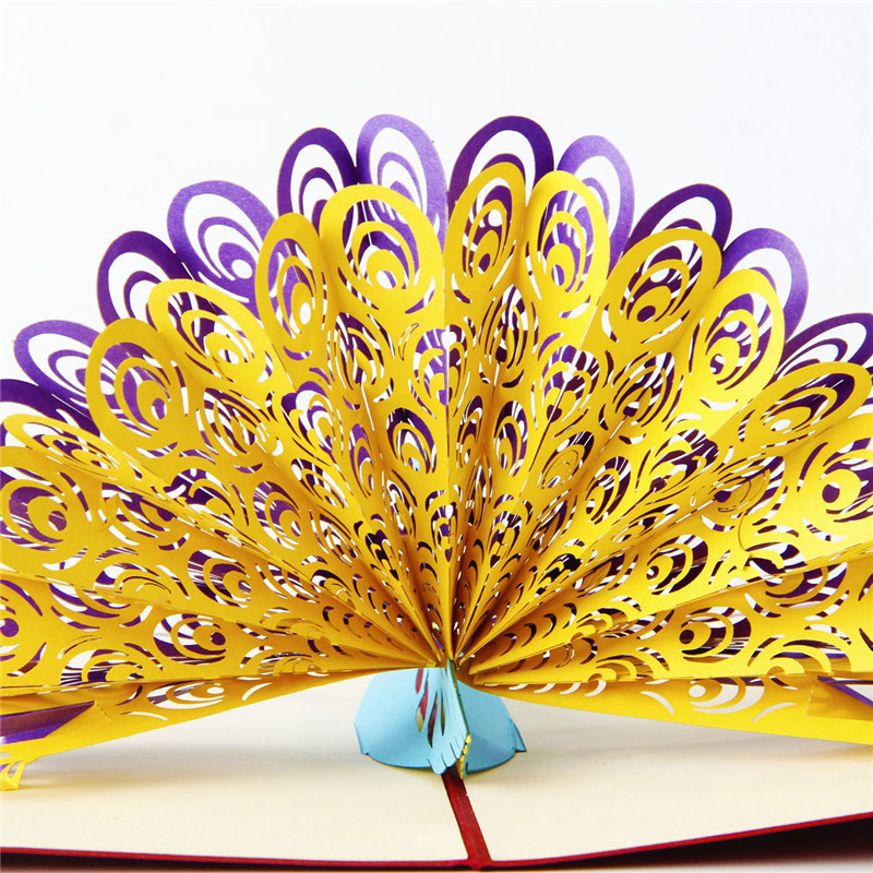 Diy 3d greeting cards handmade engraving pop up paper card gift diy 3d greeting cards handmade engraving pop up paper card gift cards birthday peacock peafowl business cards on aliexpress alibaba group m4hsunfo
