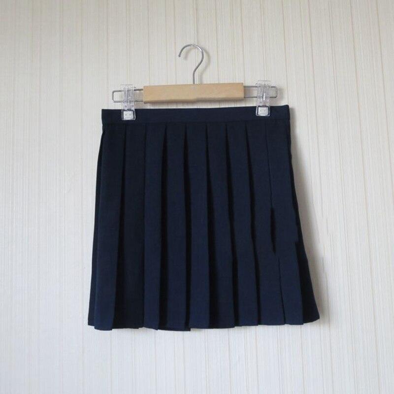 New Multi Color Japanese Anime High Waist Pleated Skirts JK Student Girls Solid Pleated Skirt Cute Cosplay School Uniform Skirt