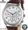 Original GUANQIN Reloj de los hombres automáticos de zafiro Resistente Al Agua GQ20005) marca de relojes de lujo de los hombres relojes de pulsera de reloj de cuero reloj de acero