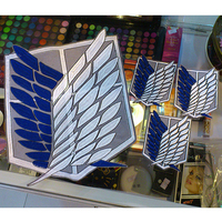 4pcs Set Attack On Titan Survey Corps Wings Cloth Stickers Anime Ver Recon Corps Emblem Shingeki