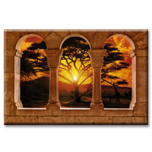 Sunset landscape poster series Wall Art Oil Painting On Canvas Printed Pictures Decor painting large living room