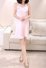 2016 new  female sleepwear 100% women silk elegant spaghetti strap temptation sexy nightgown noble fashion nightgowns-b182-1