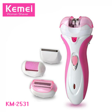 New Kemei Rechargeable Lady Epilator Shaver Female Hair Clipper Professional Women Razor Shaver Defeatherer KM-2531 EU Plug