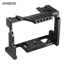 """Andoer מצלמה כלוב אלומיניום סגסוגת 1/4 """"בורג וידאו סרט סרט ביצוע מייצב עבור Sony A7II/A7III/A7SII/A7M3/A7RII/A7RIII"""