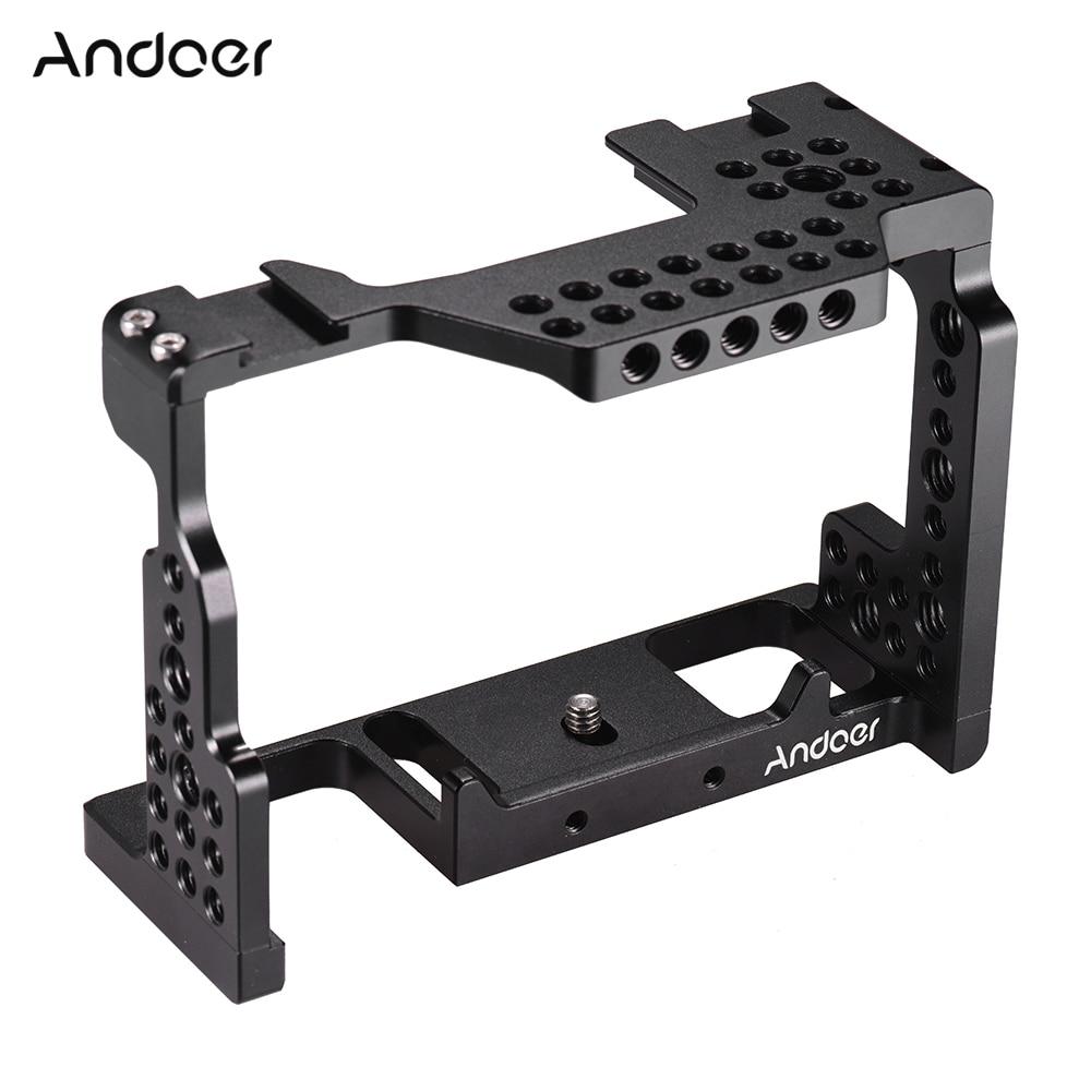 Andoer Camera Cage Aluminum Alloy 1/4