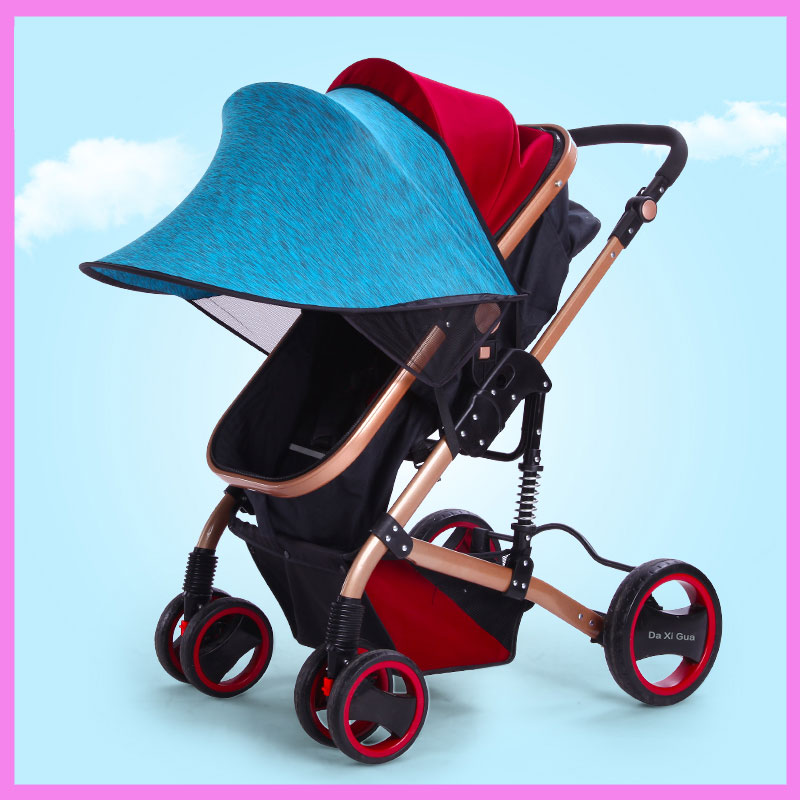 Universal Baby Stroller Awning Cap Sunshade Cover Umbrella Sun Shade Wind Shield Cover Baby Carriage Pram Stroller Accessory