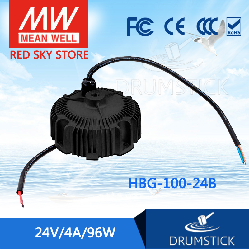 все цены на MEAN WELL HBG-100-24B 24V 4A meanwell HBG-100 24V 96W Single Output LED Driver Power Supply онлайн