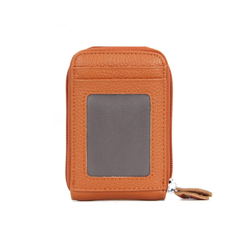 Women's Small Leather RFID Wallet Bags and Wallets Hot Promotions New Arrivals Women's Wallets Color: Brown Ships From: China