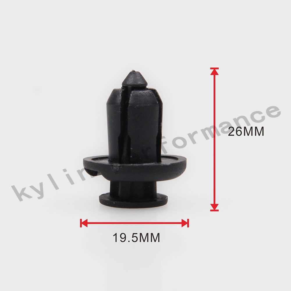 Новинка 20шт пластиковый автомобильный передний задний бампер авто заклепка черный крепеж бампер зажим толчок стопорный винт крыло для Honda