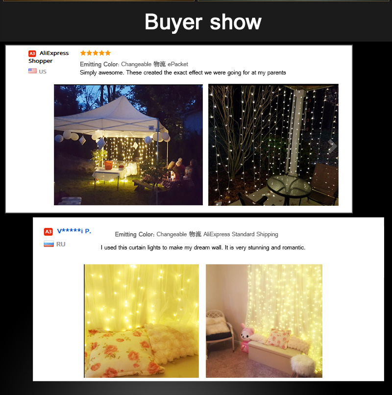 HOTOOK Holiday Lighting Jul LED Curtain String Fairy Lights IP65 4m - Ferie belysning - Foto 6