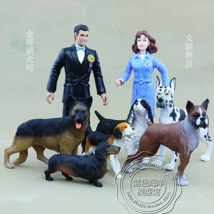 Free shipping Chap MEI dog model TOY German Shepherd Dog Harrier English Springer Spaniel Dachshund Boxer TOY model breeder серьги