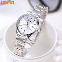 EYKI Quartz Ladies Wristwatch Round Casual Business Brand Luxury Waterproof Full Stainless Steel Watches Women Dress