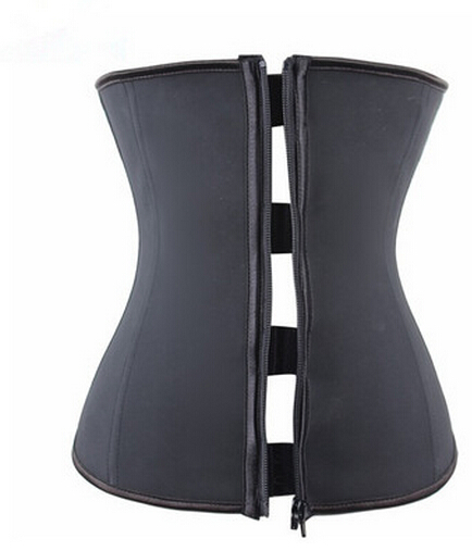 Under the waist   corset     Corset     Bustier     Corset   black latex and women plastic   corset