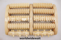 5Rows Wooden Roller Foot Massager Stress Relief Health Therapy Rlax Massage Wood