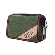 Unisex Casual Smart Phone Case Zipper Waist Belt Bag Cover Card Pocket Bags