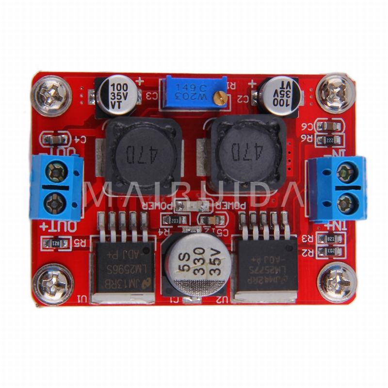 DC-DC Automatic Voltage Adapter Converter Step Up/Down Module LM2577S + LM2596S dc dc automatic step up down boost buck converter module 5 32v to 1 25 20v 5a continuous adjustable output voltage