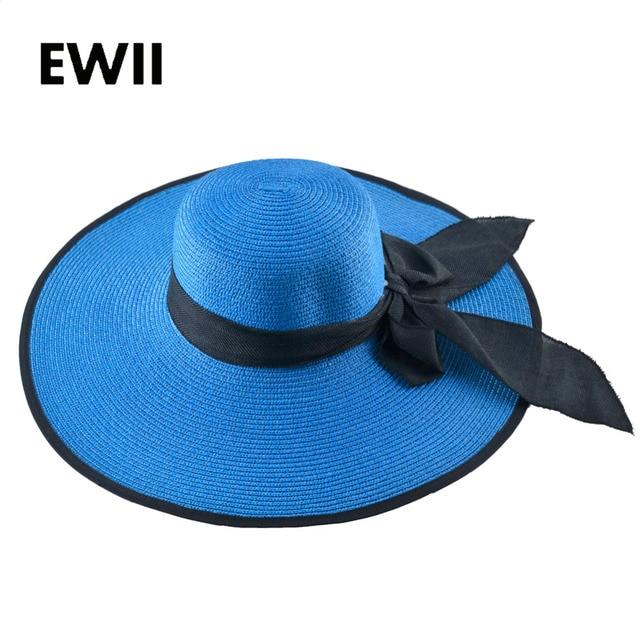 e5a573493 US $8.99 40% OFF|Girl summer beach cap women sun visor straw hat for women  floppy panama hats ladies casual wide brim caps female feminino-in Sun Hats  ...