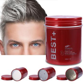 Moda nawilżający wosk do włosów stylizacja męska matowe włosy puszysta glina do stylizacji włosów złamane wykończenie włosów krem łagodzący pomada tanie i dobre opinie 135g Pomady i woski SC0381 hair clay