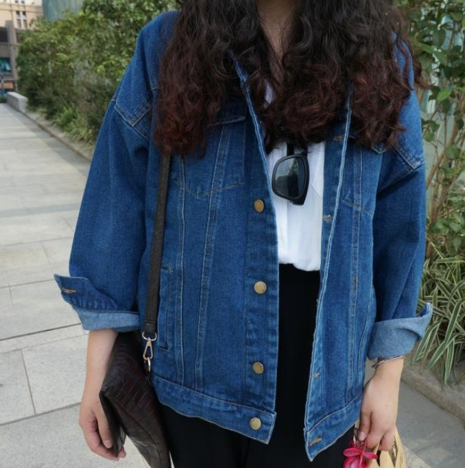 Bf Wind Autumn And Winter Women Denim Jacket 2017 Vintage Harajuku Oversize Loose Female Jeans Coat Solid Slim Chaquetas Mujer 1