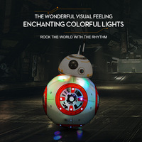 21cm Star Wars BB8 2.4G Remote Control Toys Robot Sound Dance Intelligent RC Droid LED Lights Gifts Toy Children Action Figures