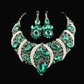 2017 Joyería de La Boda Sistemas de La Joyería Marca Declaración de Moda Buena Calidad Elegante de Cristal Perlas Africanas Sistemas de La Joyería