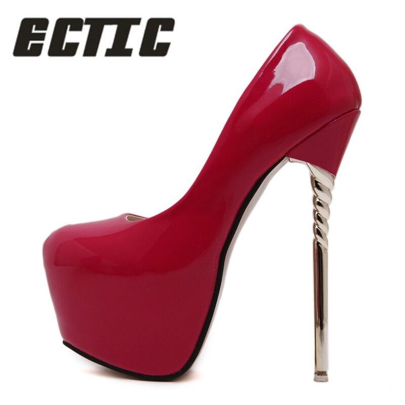 Sexy Pompes noir Talon En Des Cuir Latform pourpre Ectic 26 rouge Nouveau Pour Ae Haute Apricot Verni Mariage Très De Mode Chaussures 2018 Femmes z1aaEnwYqI