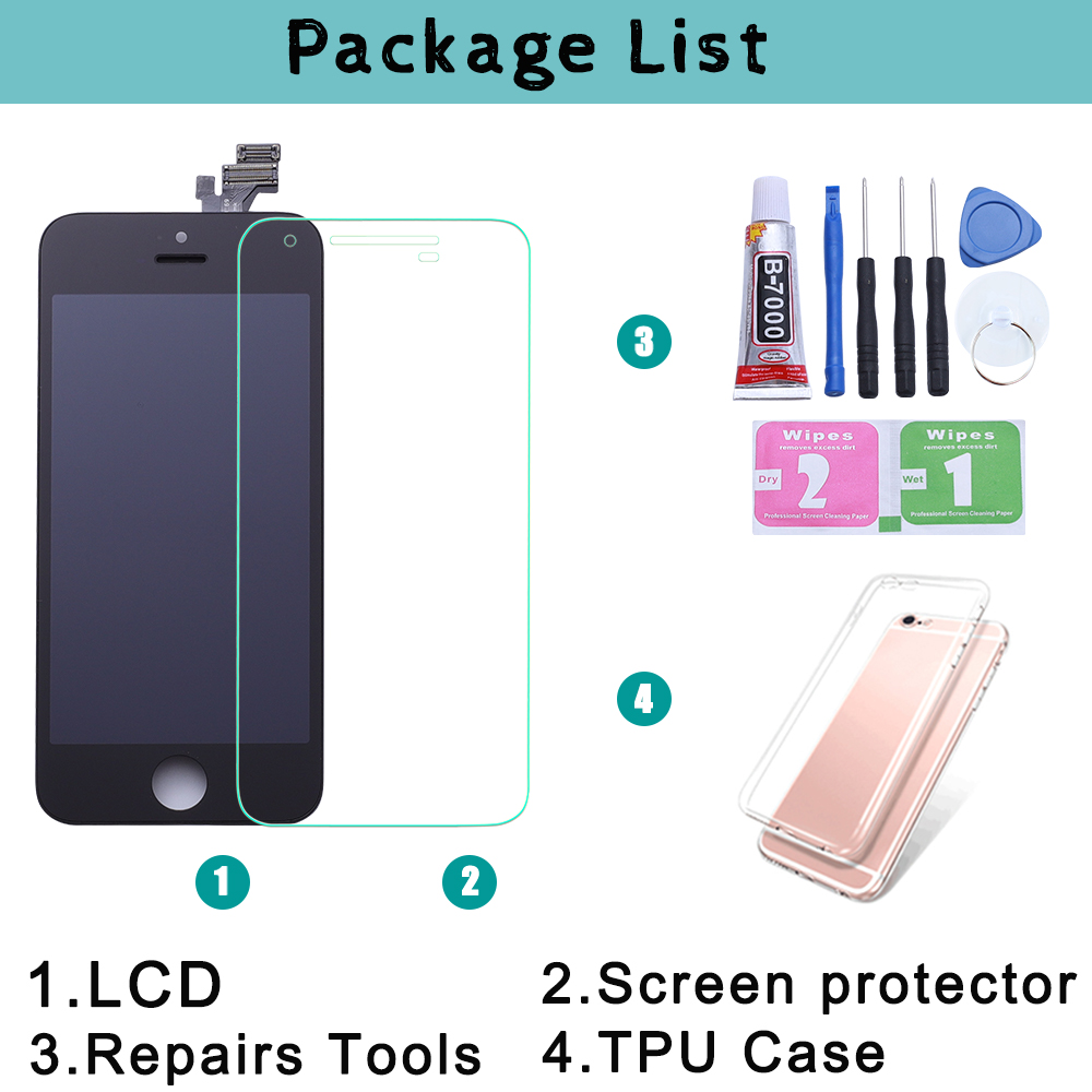 Image 5 - Black/White Assembly LCD Display Digitizer for iPhone 6s AAA Quality LCD Touch Screen for iPhone 6 7 5s No Dead Pixel with Gifts-in Mobile Phone LCD Screens from Cellphones & Telecommunications