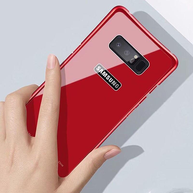 Anti-Explosion 9 H закаленное Стекло Телефонные Чехлы для Samsung Galaxy Note 8 <font><b>S8</b></font> <font><b>S8</b></font> плюс крышка Роскошные Металл Рамки противоударный Панцири случае