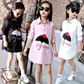 New 2017 Spring Summer Kids Brand Girls Shirt Children Clothes Long sleeve Clothes