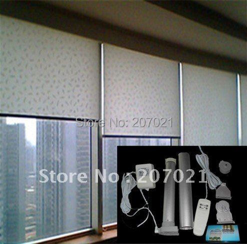 Window width 2.5 meter DC Motor Remote Control Electric Motorized Roller Blinds for home control customized available
