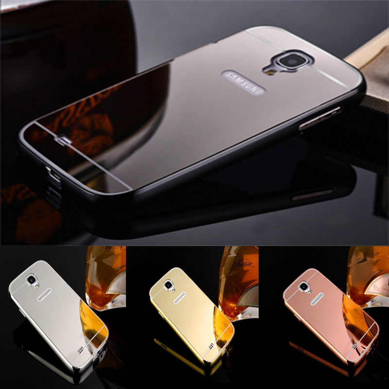 new products d4100 a5f1a US $3.32 |Fashion Luxury Rose Gold Mirror Case For Samsung Galaxy S4 MINI  i9190 shell Back Cover For Galaxy S4mini-in Half-wrapped Case from ...